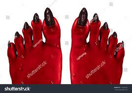 halloween background devil devil feet red zombie feet creepy stock illustration 171444776
