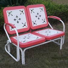 vintage metal chairs outdoor metal retro glider outdoor