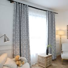 gray quatrefoil extra wide floor to ceiling apartment curtains