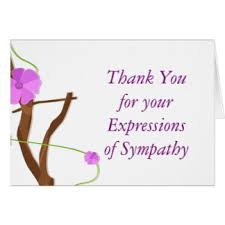 thank you for sympathy card sympathy thank you notes for flowers
