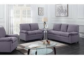 canapé 3 2 tissu 3 pièces chicago tissu gris foncé 1 canapé 3 places 1 canapé 2