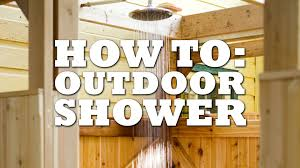 Teak Outdoor Shower Enclosure by Outdoor Shower Floor Drain Outdoor Designs