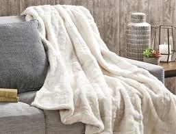 fur throws for sofas faux fur throw bed bath n table