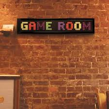 crystal art gallery game room framed led sign 114060 the home depot