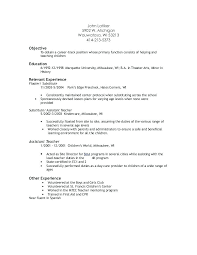 resume template simple sles of simple resumes assistant resume preschool