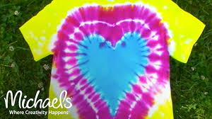 how to make a heart on a tie dye shirt michaels youtube