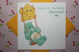 handmade personalised retro 80 u0027s care bear birthday card age 1