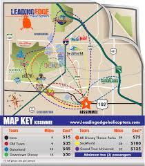 Map Of Kissimmee Florida by Leading Edge Helicopter Tours