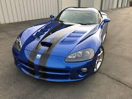 2008 dodge viper srt10 coupe blue black stripes american supercars