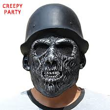 Realistic Scary Halloween Costumes Aliexpress Buy Halloween Scary Skull Mask Realistic Zombie