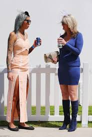 womens boots geelong racegoers flaunt fascinators at the geelong cup melbourne daily
