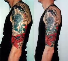 half tattoo sleeve designs