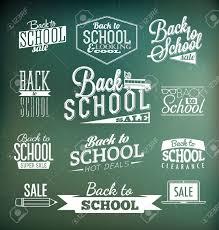 back to school calligraphic designs retro style elements