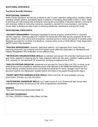 Resume Examples For Military Military Skills For Resume Free Resume Example And Writing Download