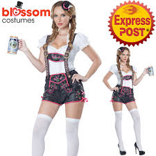 Gretchen Costume Halloween K173 Ladies German Beer Maid Woman Oktoberfest Lederhosen Party