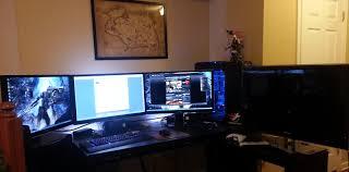 Good Desks For Gaming by Computer Desk For Tripple Monitor Setup