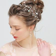 bridal headband jonnafe new design gold hair jewelry bridal headband with