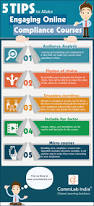 tips to make engaging online compliance courses infographic