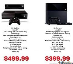Xbox One Meme - xbox one vs ps4 xbox