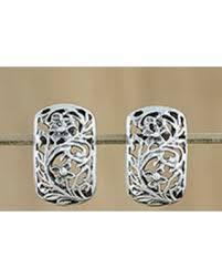 thailand earrings amazing deal on sterling silver drop earrings floral world