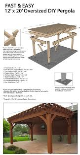 Free Standing Patio Plans Fast And Easy Diy Freestanding Shadescape Pergola Free