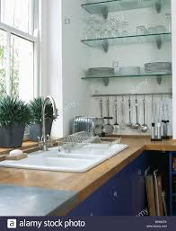 where to buy glass shelves for kitchen cabinets glass shelves in kitchen high resolution stock photography