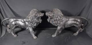 silver lion statue lion statue deco