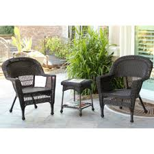 Wicker Deep Seating Patio Furniture by Cushions 3 Piece Outdoor Wicker Cushion Set Replacement Cushions