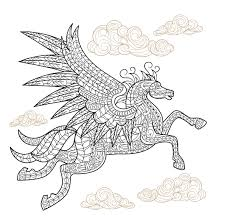 pegasus winged horse coloring page craftfoxes