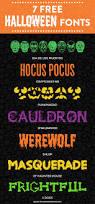 7 free halloween fonts