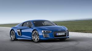 Audi R8 Front - hd background audi r8 e tron blue front and side view sportscar