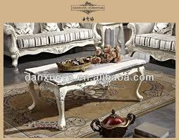 french style coffee table french rococo style wood carved white color silver foil coffee table