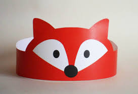 fox paper crown printable by putacrownonit on etsy atividades