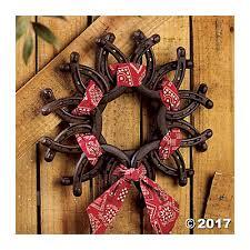 horseshoe wreath horseshoe wreath with bandana trading discontinued