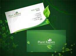 business green card green nature business card design free vectors