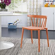 modern spindle low back dining side chair