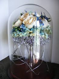 glass domes display your bridal bouquet wedding flowers floral