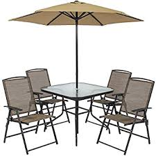 Folding Outdoor Table And Chairs Amazon Com Best Choice Products 6pc Outdoor Folding Patio Dining