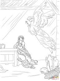 angel gabriel visits mary coloring page and and coloring page
