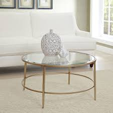 coffee table magnificent gold glass coffee table round coffee