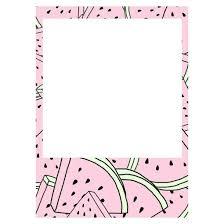 water meloen frame polaroid frame pinterest polaroid