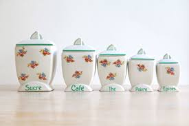 vintage kitchen canisters french kitchen pots french