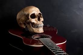 skull with acoustic guitar stock image image of skeleton 39940879