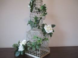 Floral Arrangement Supplies by 36 U0027 Ivory Wire Tower Stand Supply Diy Shabby Chic Vintage Looking