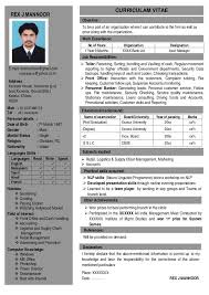 Single Page Resume Template One Page Resume Format Template