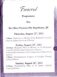 Catholic Thanksgiving Songs Vigil Mass And Service Of Songs For Victoria Oti Akpobome Mother