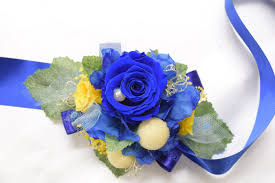 royal blue boutonniere boutonniere wrist corsage set bwc25 royal blue yellow