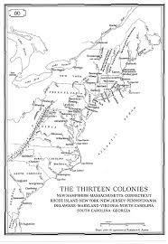 the thirteen colonies map about the thirteen colonies almanac surfnetkids