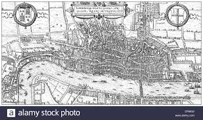 Map Of London England by Historical Drawing From The 19th Century Map Of London England