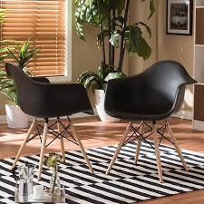 mid century modern kitchen chairs baxton studio pascal plastic mid century modern shell chair black
